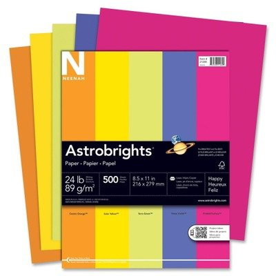 (3 Pack Value Bundle) WAU21289 Astrobrights Colored Paper, 24lb, 8-1/2 x 11, Assorted, 500 Sheets/Ream by WAU21289 (Image #1)