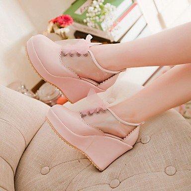 Compensé Rose 10 Femme blushing cm Confort Talon ggx Chaussures Confort Eté Décontracté pink Blanc à Talon 12 LvYuan à Gros Talons Polyuréthane FaqZ5O5wx