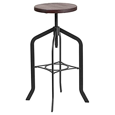 Flash Furniture Wood Swivel Stool