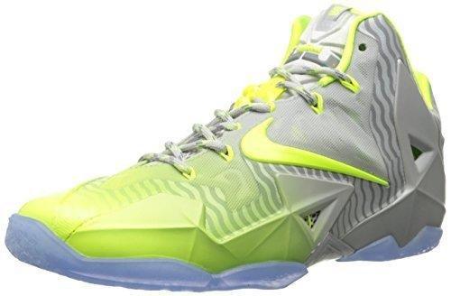 5faf267032d66 Nike Mens Lebron XI Collection, MTLC LUSTER/VOLT-ICE, 10.5 M US ...