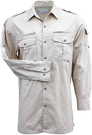 Foxfire Thunder River Gear - Camisa para Hombre de Manga Larga de algodón - Beige - X-Large - Alto: Amazon.es: Ropa y accesorios