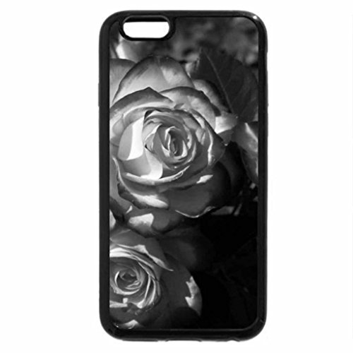 iPhone 6S Plus Case, iPhone 6 Plus Case (Black & White) - Roses