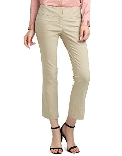 ATOUR Women's Bootcut Dress Pants Stretch Comfy Work Trousers Office Wear Casual Ladies Pant Kahki Size 10
