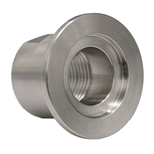 Adapter KF-25 to 1/2 in. NPT-Female, ISO-KF Flange Size NW-25, Stainless Steel (304) (Female) (Female Flange)