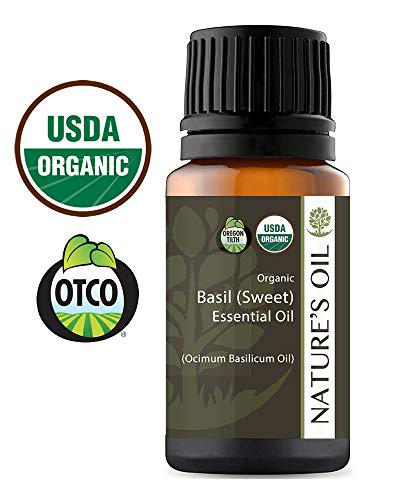 Best Essential Oil 100% Pure Certified Organic Therapeutic Grade (Basil (Sweet), 10 ml) ()