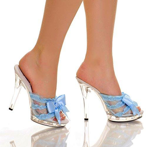 Clear Slip In Peep Toe Heels - 9