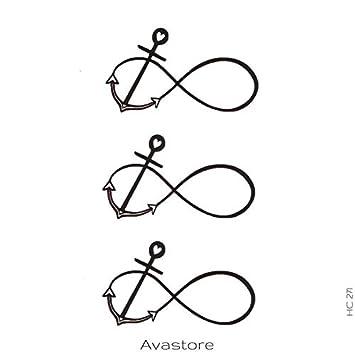 Tatuaje Temporal ancla – Tatuaje efímero ancre- – Pastilla de 3 ...