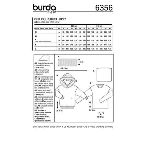 Patron femme Burda Patron femme Burda 6356 pull 6356 pull 1tRwBS1q