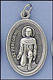 St. Peregrine Oval Patron Saint Medal on Flip Ring