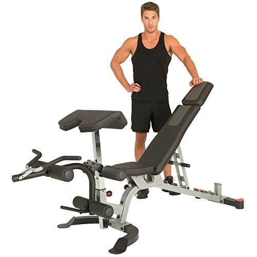 IRONMAN Triathlon X-Class Light Commercial Utility Weight Bench, Olympic Preacher Curl & Leg Developer