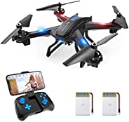 SNAPTAIN S5C WiFi FPV Drone with 720P HD Camera,Voice Control, Wide-Angle Live Video RC Quadcopter with Altitu