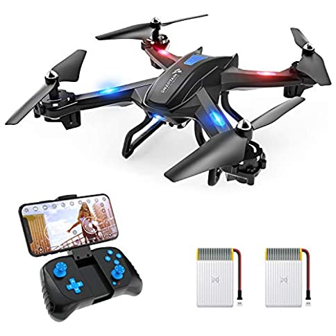 - 41cATxTcO L - SNAPTAIN S5C WiFi FPV Drone with 720P HD Camera, Voice Control, Gesture Control RC Quadcopter for Beginners with Altitude Hold, Gravity Sensor, RTF One Key Take Off/Landing, Compatible w/VR Headset