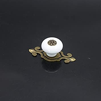 10 perillas Pomos y tiradores de los cajones hermosas piezas de muebles Knauf pomo de la puerta manija de los muebles de cer/ámica con tornillos Elegante negro Hermosa vida