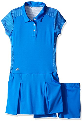 adidas Golf Girls Range Wear Dress, Blue, X-Large (Golf Clothes For Girls)
