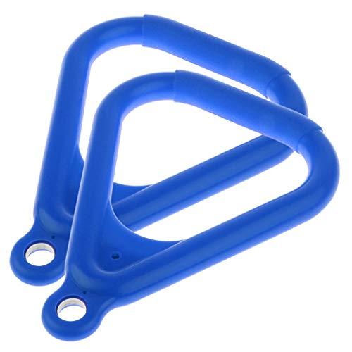 SM SunniMix 2pcs Swing Set Replacement Rings Trapeze Handles Parts, Kids Swingset Hanging Ring Jungle Gym Accessories - Blue