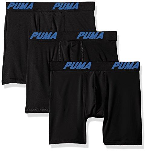 Puma Men's Volume Boxer Brief (3-Pack), Black/Blue, Medium