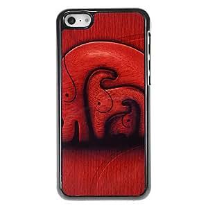 ZXSPACE Elephants Layers Pattern Aluminous Hard Case for iPhone 5C