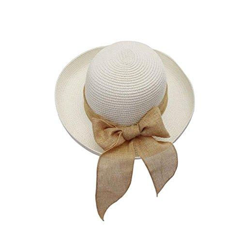 summer-fashion-womens-trilby-fedora-straw-panama-wide-brim-beach-cap-sun-hat-patternwhite