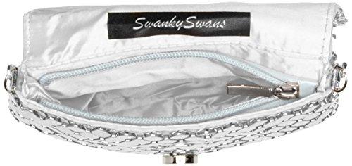 SwankySwans, Sacchetto Donna Silver (Silver)
