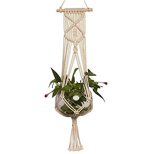 - RoJuicy 1/2/4 pcs Indoor Hanging Planter Holder, Plant Hangers Flowerpot Net Bag Hanging Basket Hanger Sling Hand-Woven Succulent Plum Net