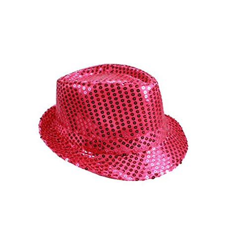 Glitter Fedora Hats - Mozzly Unisex Costume Accessories Sequin Fedora
