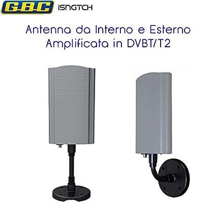 Antenna amplificata per tv dvb tdvb t2 da esterniinterni