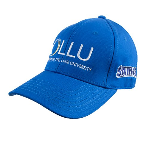 OLLU Royal Heavyweight Twill Pro Style Hat 'OLLU Our Lady of the Lake University Stacked' by CollegeFanGear