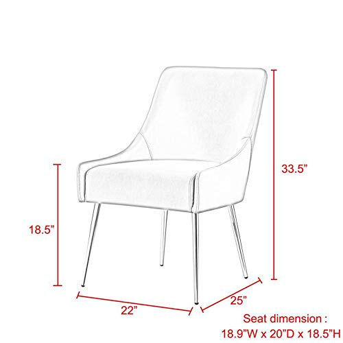 Amazon.com: Posh Living Perogo Velvet Dining Chair Set of 2 ...
