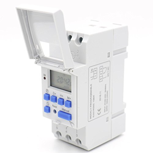 (Baomain THC15A AC 220V - 240V Digital LCD Power Programmable Timer Time Switch Relay 16A Amp)