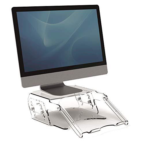 Fellowes - Soporte para Monitor Regulable con Atril para Documentos Clarity, 9731201