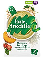 Little Freddie Multigrain Porridge with Pumpkin, Spinach & Tomatoes, Probiotic (2 Pack), 160 g,12.6 x 5.7 x 20 cm,green