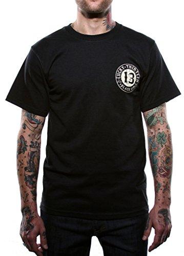 Lucky 13 Men's Black Sin T-Shirt L Black ()