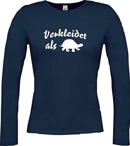 Krokodil - Camiseta - Casual - Cuello redondo - Manga Larga - Mujer Azul