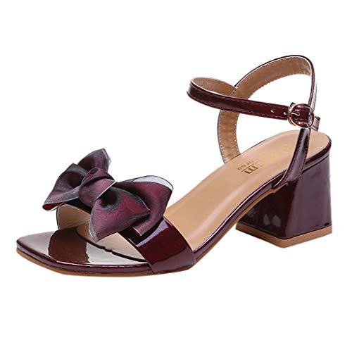 (DDKK sandals Summer Deals Open Toe Butterfly-Knot Strap Buckle Thick Heel Roman Sandal-Platform Strappy Closed Toe Espadrille Sandal-Fiona Fashion Stilettos Open Toe Pump Heeled Sandals)