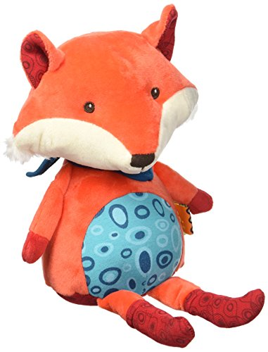 B. Toys – Happy Yappies – Pipsqueak The Fox – Talking Teddy Toy Repeats What You Say - Stuffed Fox Plush Toy – Sensory Toys for Babies 10 Months +