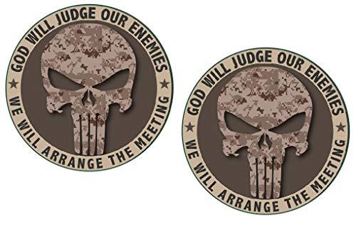 Punisher Camo Marine Military Die Cut Decal Sticker Car Truck 4