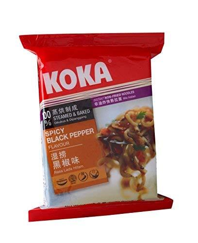 KOKA Delight Spicy Black Pepper Noodles(85g x 4 Packs): Amazon.in: Grocery & Gourmet Foods