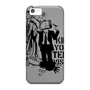 Tpu BJBcke Shockproof Scratcheproof Kill Your Television Hard Case Cover For Iphone 5c