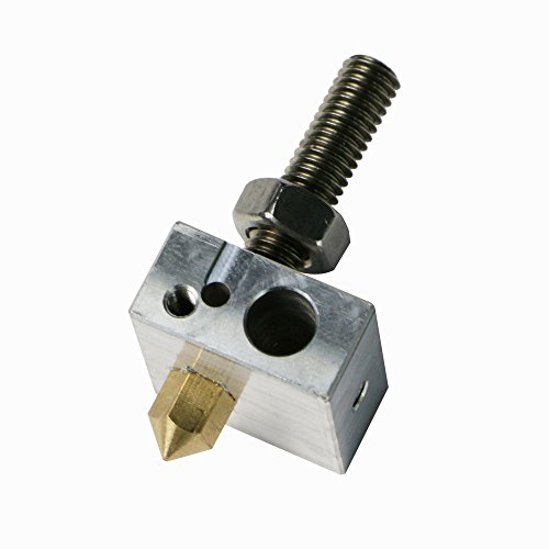 JGAURORA A3 3D Printer Nozzle 0.4mm Diameter With Teflon Tube And Heated Block for A-3 KIT Number of ()