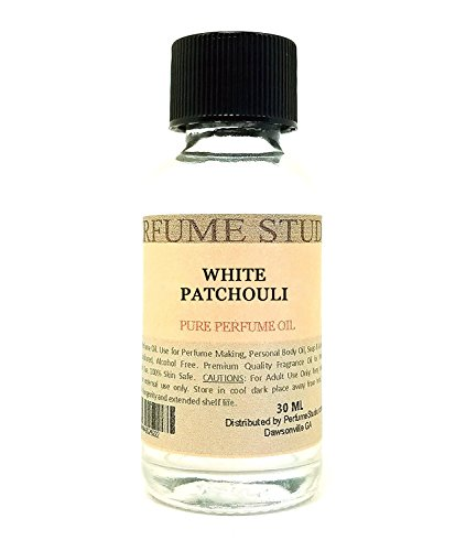 Pure Perfume Oil for Perfume Making, Personal Body Oil, Soap, Candle Making & Incense; Splash-On Clear Glass Bottle. Premium Quality Undiluted & Alcohol Free (1oz, White Patchouli)