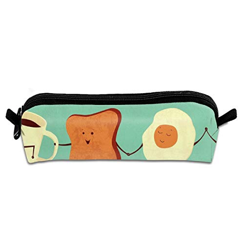 FRTSFLEE Let's All Go and Have Breakfast Pencil Bag Pencil Case Portable Stylish Pen Bag Multifunctional School Supplies for Watercolor Pens & Markers for Students & Artist