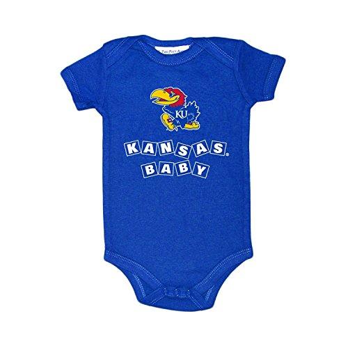 Two Feet Ahead Kansas Jayhawks Blocks NCAA College Newborn Infant Baby Creeper (0-3 Months) ()