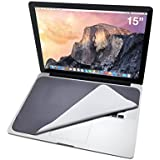 Premium 3-in-1 Microfiber Laptop Protector for Macbook and PC, Retina Screen Cleaner, Anti-Scratch Keyboard Cover Non-Slip Mouse Pad, for any 15in, 15.4in Screen (Cool Gray)