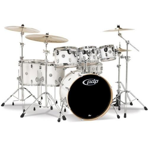 PDP By DW 7-Piece Concept Maple Shell Pack with Chrome Hardware Red to Black Fade