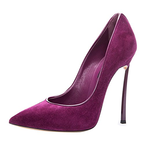 Party Dress High Women's Toe Wedding Pumps Pointed On Slip Purple Heel Onlymaker Stiletto Shoes nPT6wqFqv