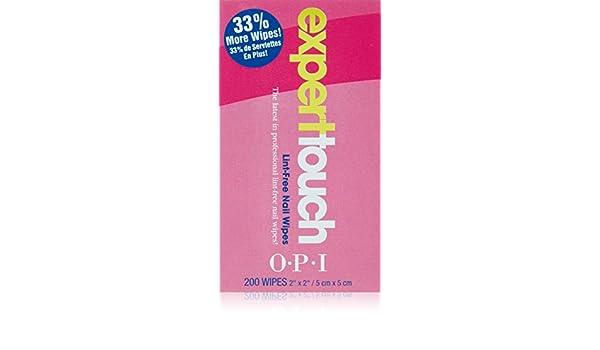 OPI Nail Experto Touch toallitas Pack 1 (1 x 200 Tücher) [Badartikel]: Amazon.es: Belleza