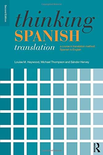 Thinking Spanish Translation (Thinking Translation)