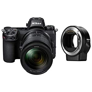Nikon Z6 FX-Format Mirrorless Camera with 24-70mm f/4 S Lens Lens and Mount Adapter FTZ