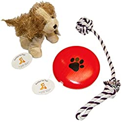 Everlast Pet Toys | Rope & Squeak Toy Bundle For Dogs | Knotted Pull Tug Rope | Plush Doll | Guaranteed | Flying 'Paw' Disc | Top Rated - #1 Seller | For Large, Medium & Small Breeds of All Ages