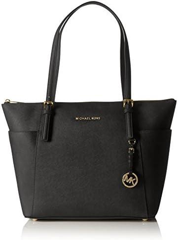 Michael Kors Women Jet Set Large Top-zip Saffiano Leather Tote Shoulder Bag